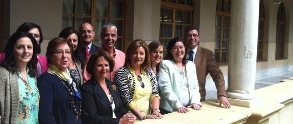 Coordinadores del grupo de trabajo del PNPM que han presentado sus trabajo en la III Jornada de Mediación de la Región de Murcia