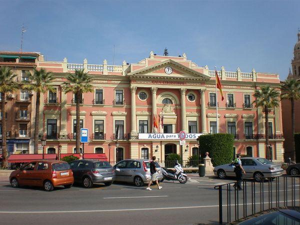 Vista del Ayuntamiento de Murcia