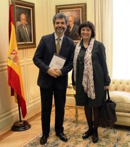 Mediacion es Justicia Lourdes Arastey Presendenta de Gemme y Carlos Lesmes Presidente del CGPJ