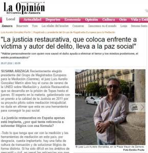 El Correo de Zamora 05 07 2016 Entrevista a LA Gonzalez