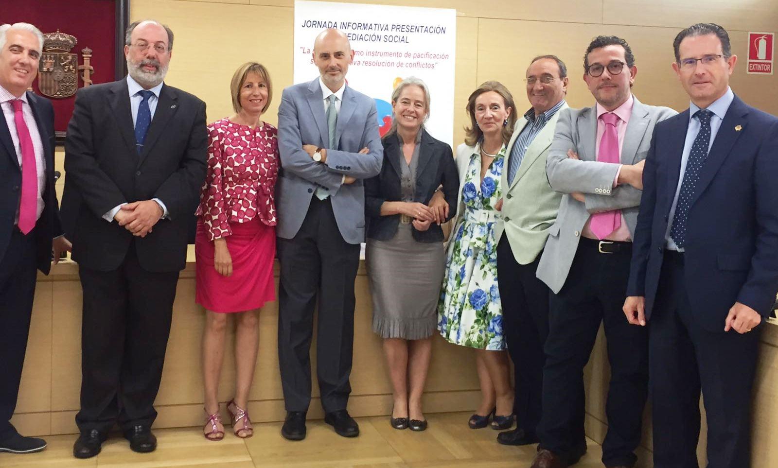 Ponentes de la Jornada de Mediacion Social en Burgos
