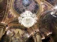 Vista de la preciosa cúpula del Salón de Sant Jordi del Palacio de la Generalitat