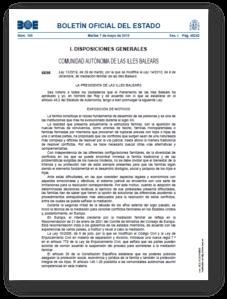BOE Ley Mediacion Baleares
